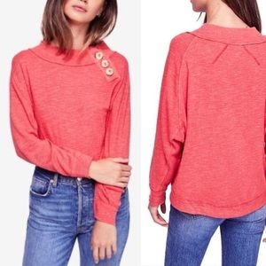 FREE PEOPLE Don't Forget Me Side Button Detail Top